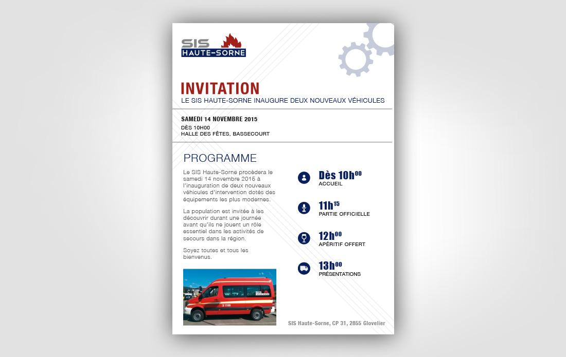 Invitation à l'inauguration de nouveaux véhicules