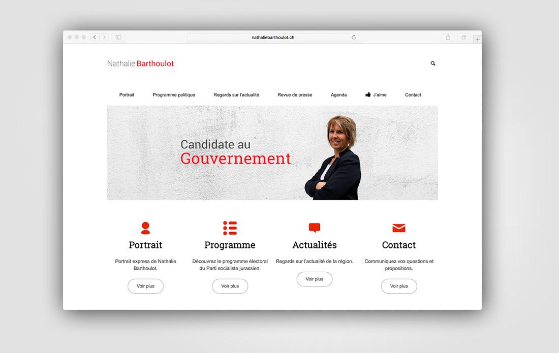 Site Internet de Nathalie Barthoulot