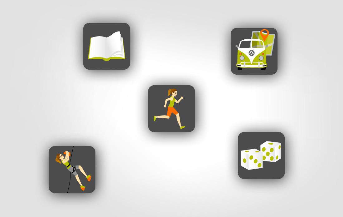 Croc'livres & jeux, pictogrammes