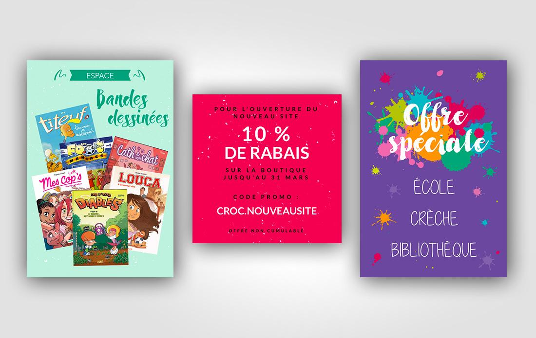 Croc'livres & jeux, promotions et offres