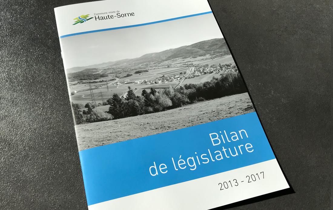 Bilan de législature de la commune de Haute-Sorne, couverture