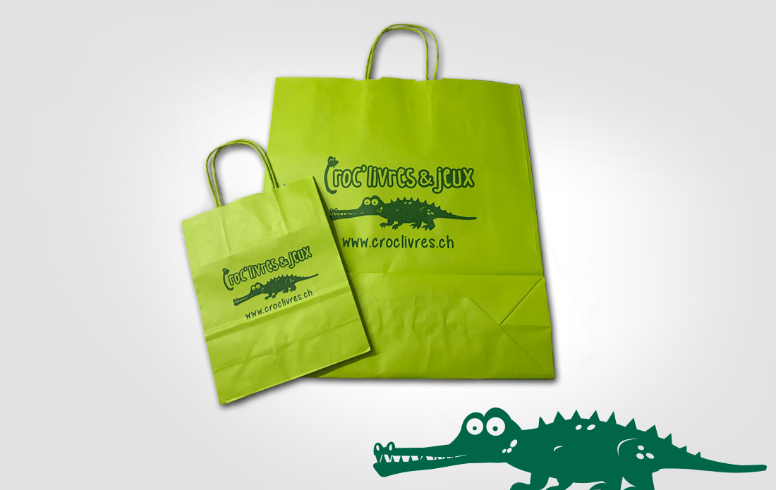 Sacs en papier Croc'livres & jeux