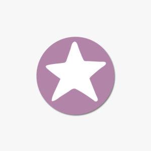 Autocollant étoile rose