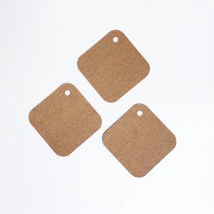 Étiquette papier kraft carré_arrondi