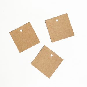 Étiquette papier kraft carré