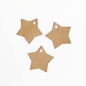 Étiquette papier kraft étoile