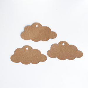 Étiquette papier kraft nuage