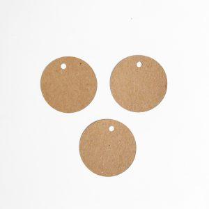Étiquette papier kraft rond