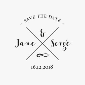 Tampon en bois, save the date