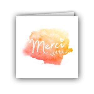 Carte de remerciements, collection aquarelle
