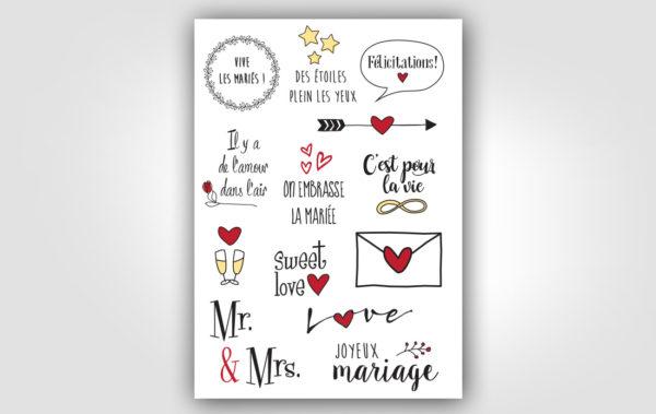 Tatouages éphémères Mariage