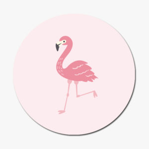 Sticker flamant rose