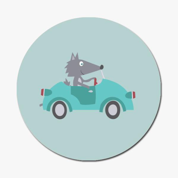 Sticker loup