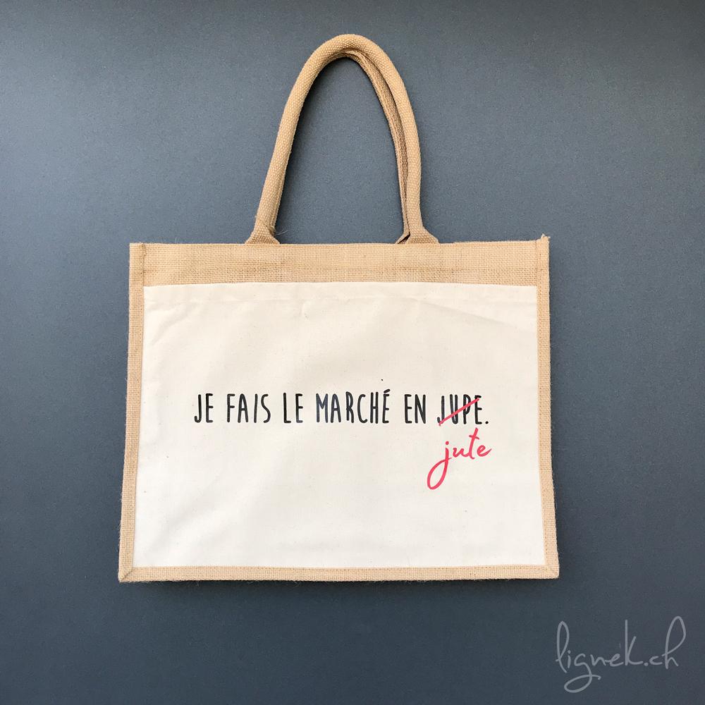 Un sac en jute pour se rendre au marché
