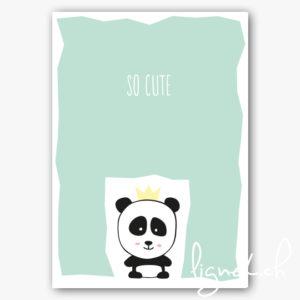 Affiche A4 panda