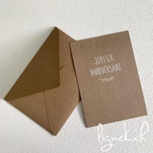 Carte kraft Joyeux anniversaire