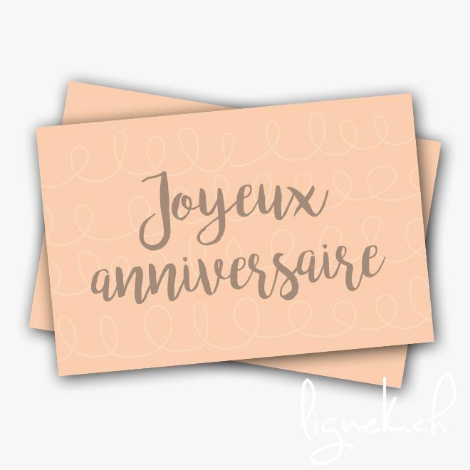 Mini carte joyeux anniversaire