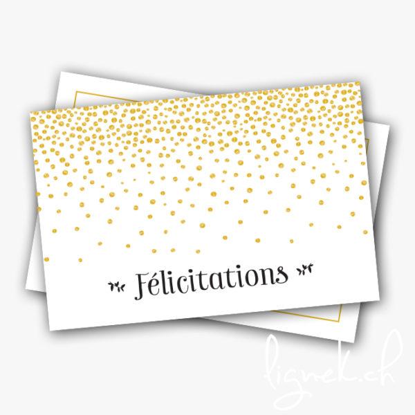 Mini carte félicitations