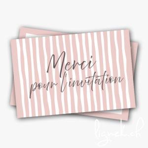 Mini carte merci pour l'invitation