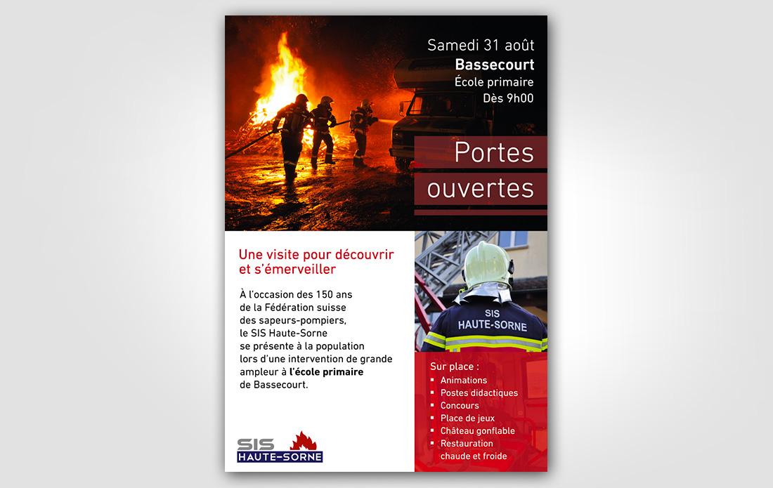 SIS Haute-Sorne, affiche, présentation des sapeurs-pompiers