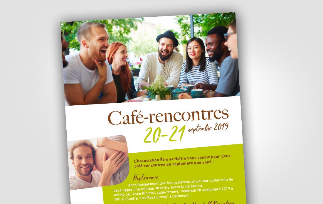 Flyer café-rencontres Être & Naître