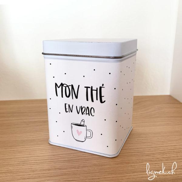 Boîte métalliques mon thé en vrac