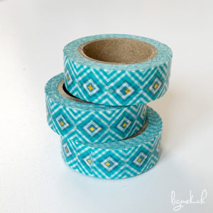 Ruban de masquage washi tape bleu losanges