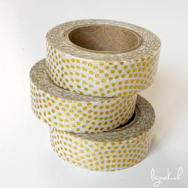 Ruban de masquage washi tape transparent pois