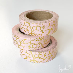 Ruban de masquage washi tape rose motifs floral