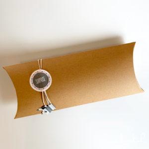 Boîte berlingot en papier kraft