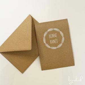 """Carte """"bonne année"""", collection kraft."""