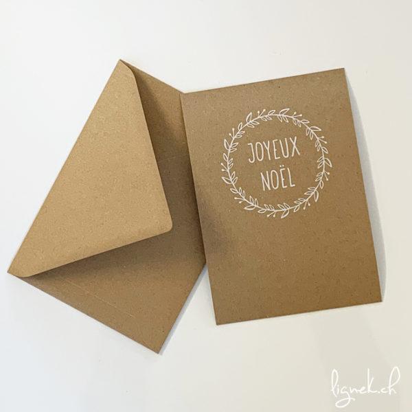 Carte kraft joyeux Noël
