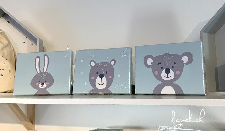 Cadre lapin, ours et koala