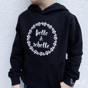 Sweat-shirt belle & rebelle