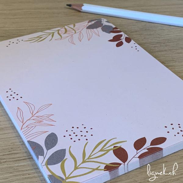 Bloc notes floral