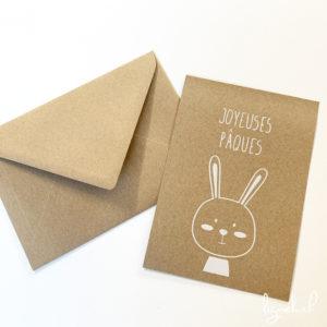 Carte kraft joyeuses Pâques