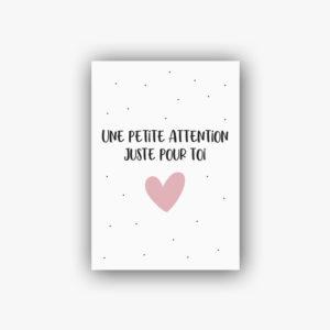 Carte postale une petite attention juste pour toi