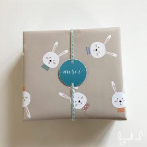 Papier cadeau lapins