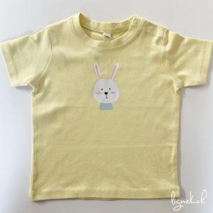 T-shirt lapin jaune pastel