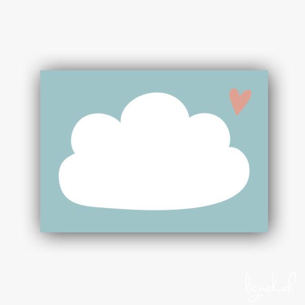 Étiquette adhésive nuage