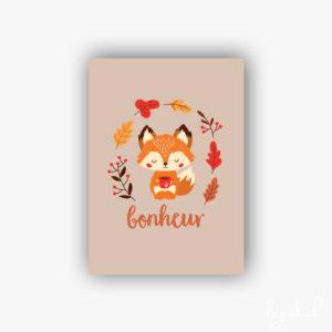 Carte postale renard