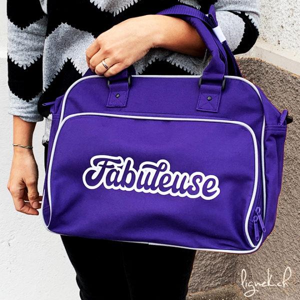 Sac vintage violet fabuleuse