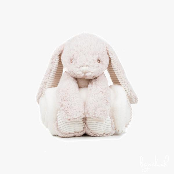 Peluche lapin avec couverture