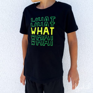 T-shirt what jaune/vert fluo
