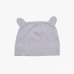 Bonnet à rayures avec oreilles