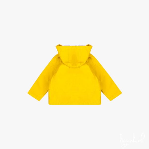 Veste de pluis à capuche jaune