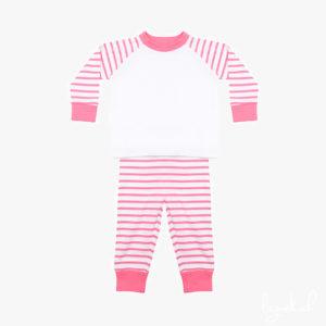 Pyjama à rayures rose et blanc