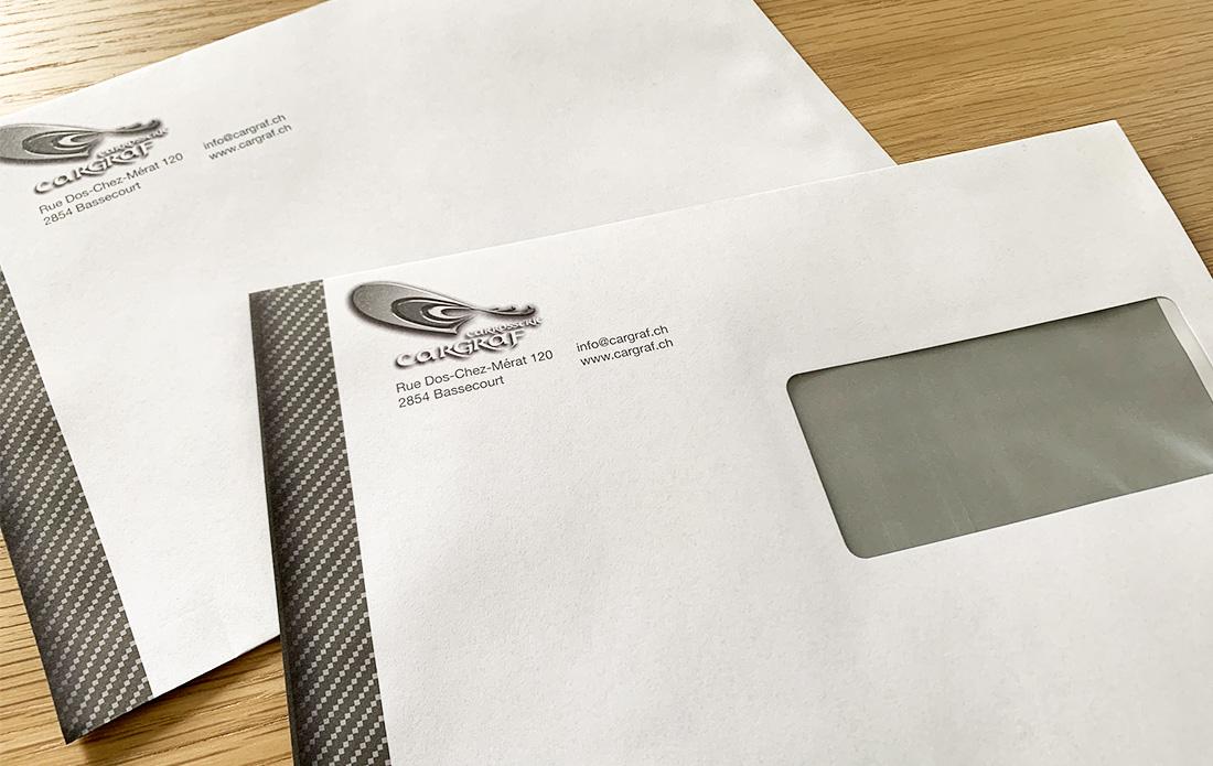 Enveloppes DIN-C5 pour le garage Cargraf à Bassecourt