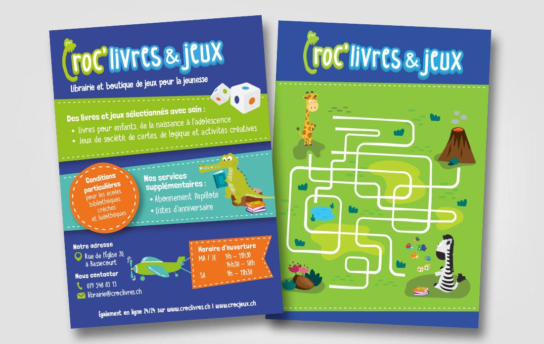 Flyer Croc'livres & jeux