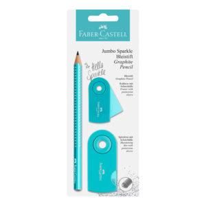 Set crayon scintillant FABER-CASTELL bleu